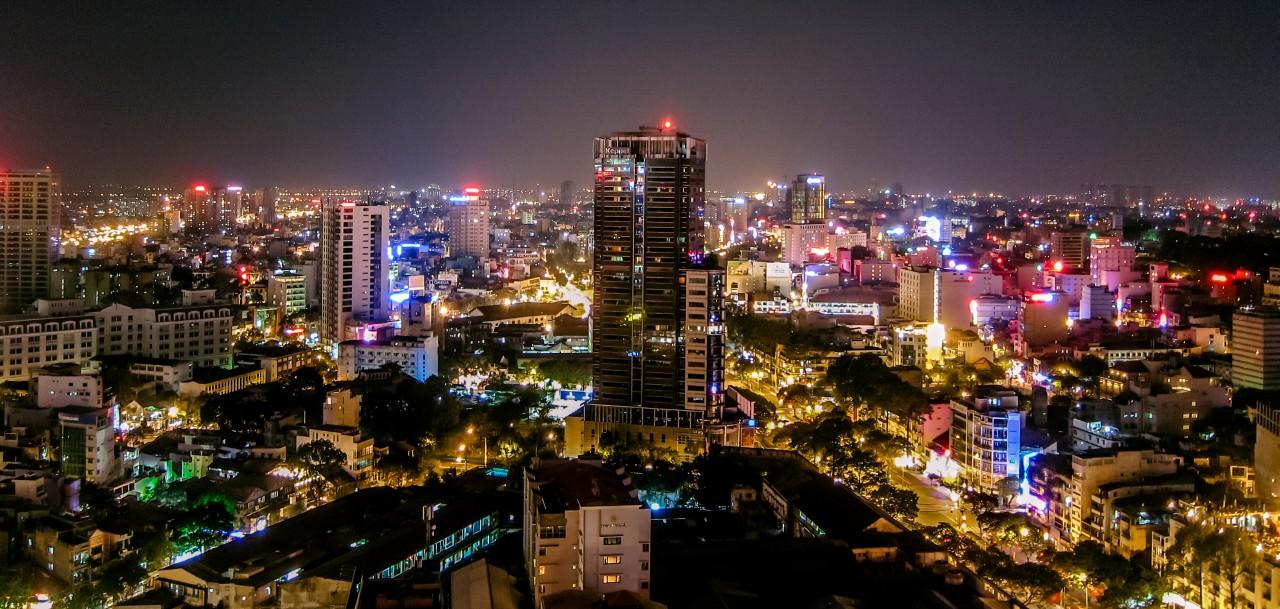 Ho Chi Minh Stadt Nacht