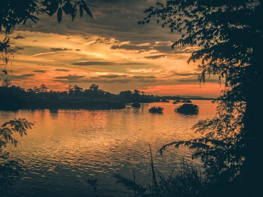 Sonnenuntergang auf Don Det