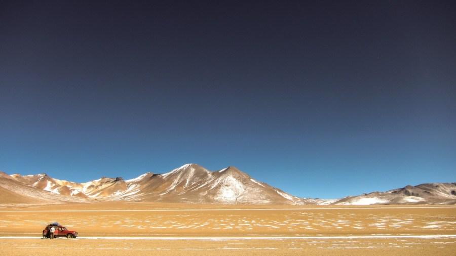 Eduardo Avaroa National Reserve of Andean Fauna in Bolivien