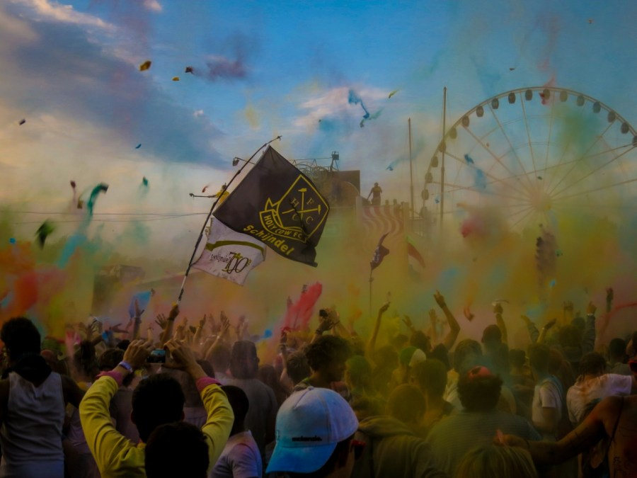 Holi Party auf dem Sziget Festival 2013