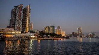 Blick auf die Häuser von Manila