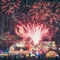 Feuerwerk fürs Chinese New Year in Singapur