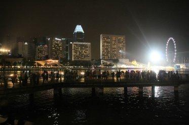 Die Marina Bay in der Nacht