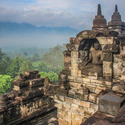 Buddha Reliel am Borobudur