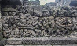 Relief vom Borobudur