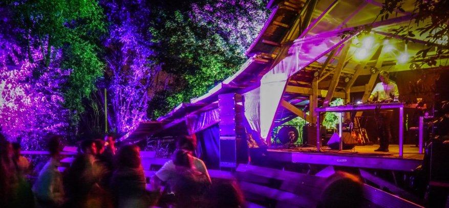 Butterland Bühne auf dem MS Artville 2014