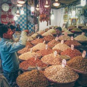 Nussverkäufer in Delhi