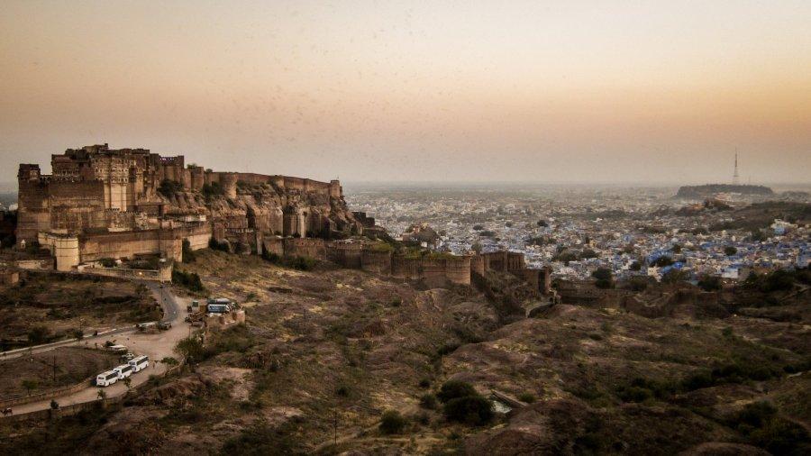 Festungsanlage Mehrangarh in Jodhpur
