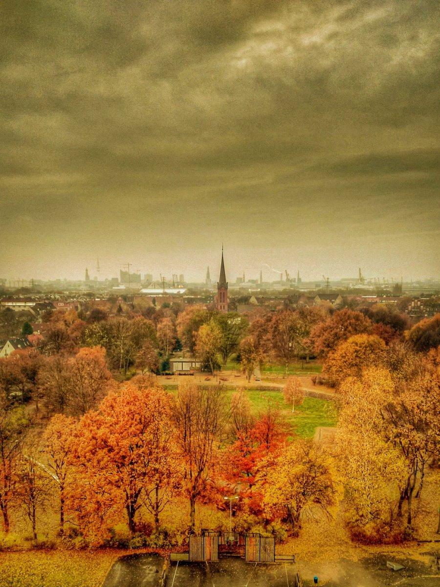 Skyline von Wilhelmsburg