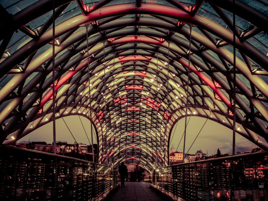 Freedom Bridge in Tbilisi