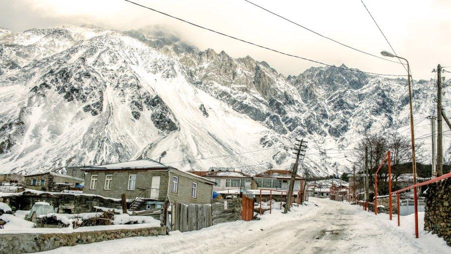 Kazbegi im Winter