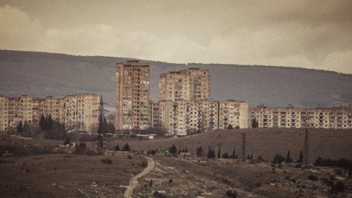 Ghetto am Stadtrand von Tiflis