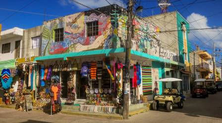 Straßenecke Isla Mujeres