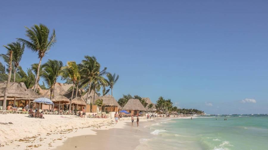 Der Strand von Playa del Carmen