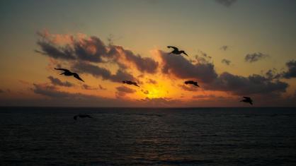 Sonnenaufgang über Tulum