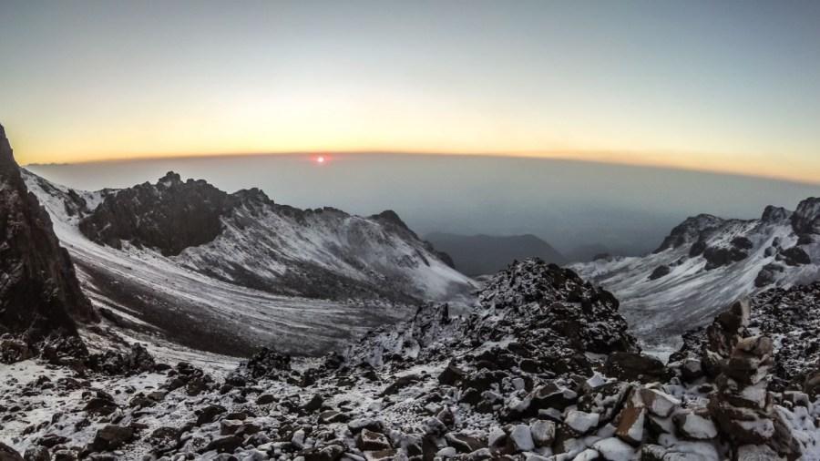 Sonnenaufgang auf dem Iztaccíhuatl