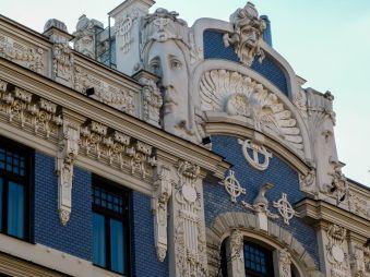 Jugendstil-Fassade in Riga