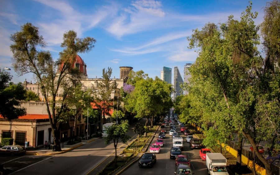 Straße in Mexico City