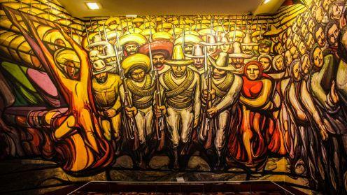 Mural im Castillo de Chapultepec in Mexico City