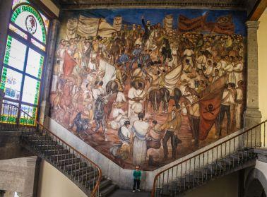 Mural im Castillo de Chapultepec