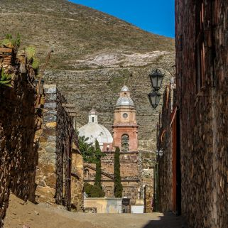 Stadtzentrum von Real de Catorce