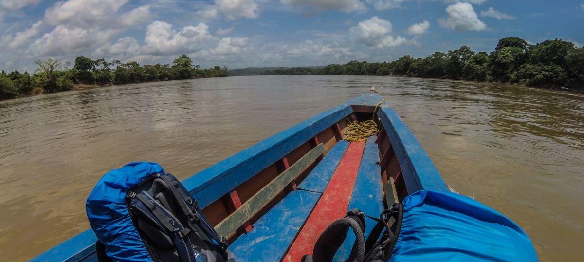 Chiapas / Yaxchilán: Im Boot über die Grenze von Mexiko