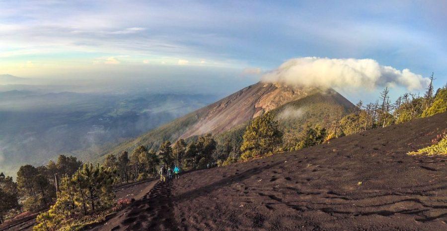 Blick auf den Vulkan Fuego