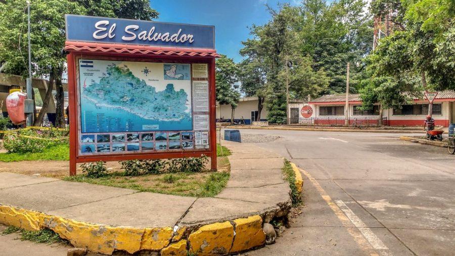 Grenzschild El Salvador