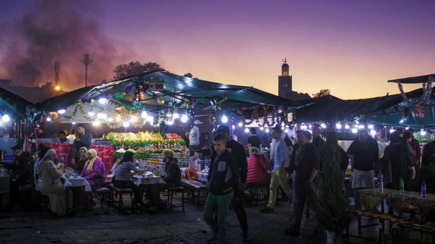 Essensstände in Marrakesch