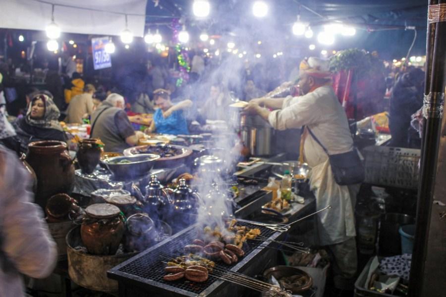 Essensstand auf dem Djemaa el Fna