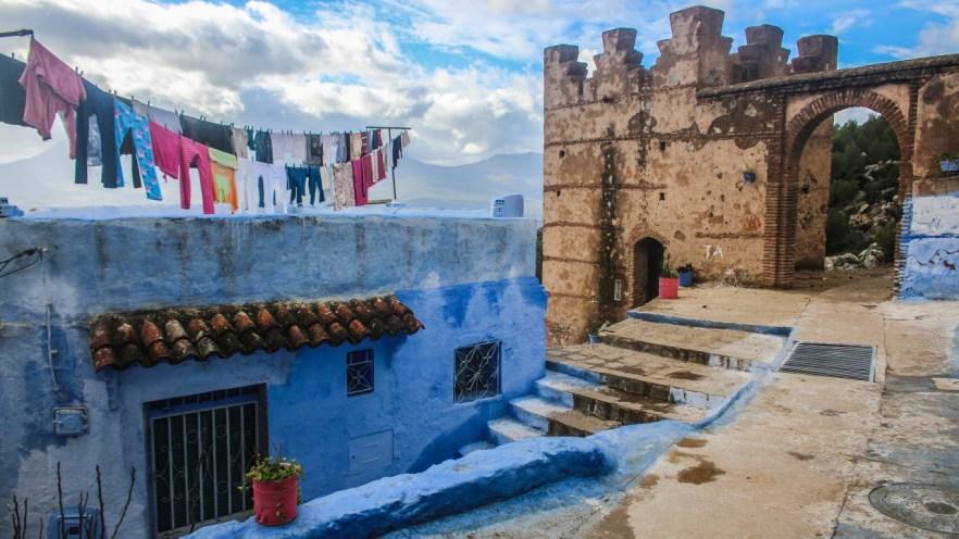 Die Innenstadt von Chefchaouen, Marokko