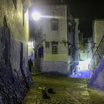 Chefchaouen, Marokko, des Nachts