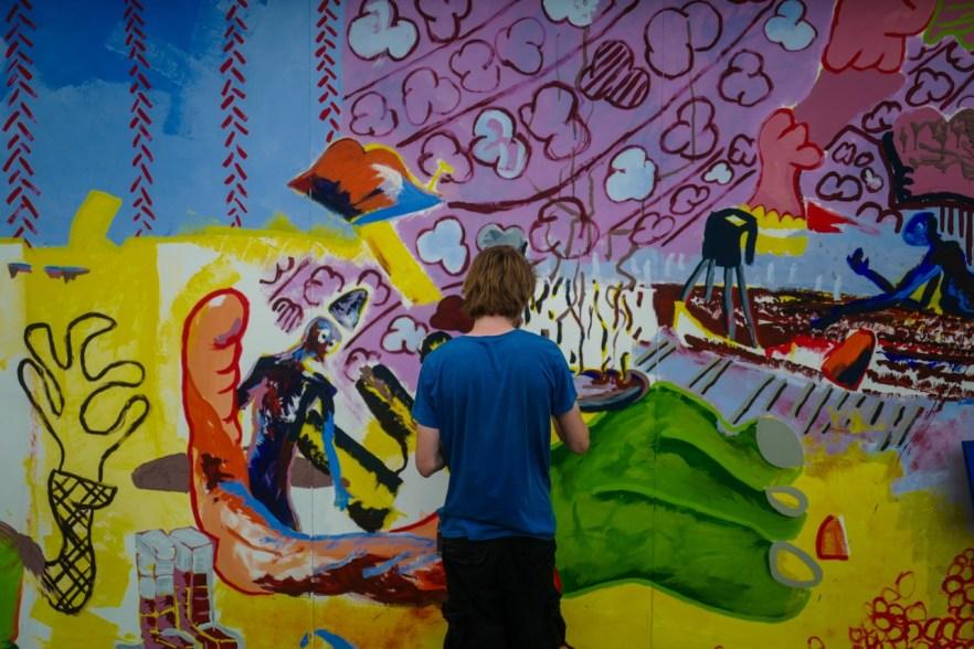Bunte Wand beim lunatic Festival