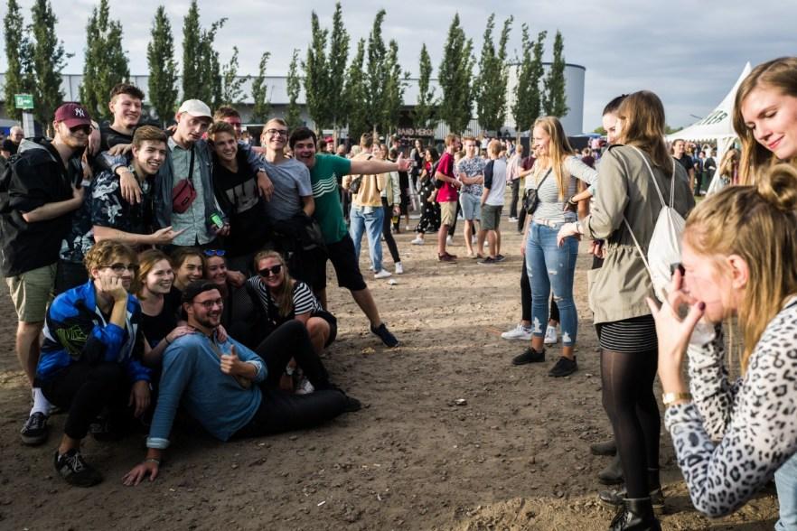 Gruppenfoto aauf dem MS Dockville Festival
