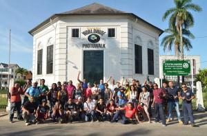 Photowalk groep in Paramaribo