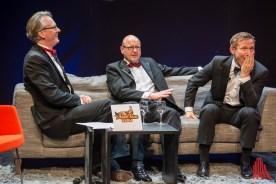 Adam Riese im Talk mit Markus Lewe und Roland Jankowsky alias Overbeck. (Foto: th)