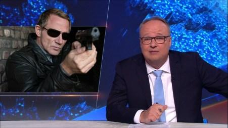 """Overbeck (Roland Jankowsky) zu Gast bei Oliver Welke in der """"heute Show"""". (Fotos: ZDF/ Thomas Kost / Jonas Plöger / Uwe Schäfer)"""