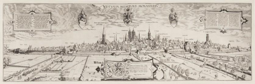 Ansicht der Stadt Münster. Heliogravüre nach dem Kupferstich von Remigius Hogenberg nach einer Zeichnung von Hermann tom Ring, Original 1570 (Foto: Stadt Münster, Stadtmuseum)