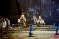Laury Tisseur mit der Ungarischen Post mit vier Pferden (Foto: cf)