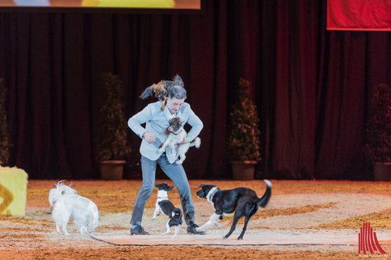 Leonid Beljakov begeistert das Publikum mit seiner rasanten Show. (Foto: Carsten Pöhler)