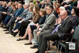 Die Zuhörer verfolgten aufmerksam die Rede von Dorothee Feller