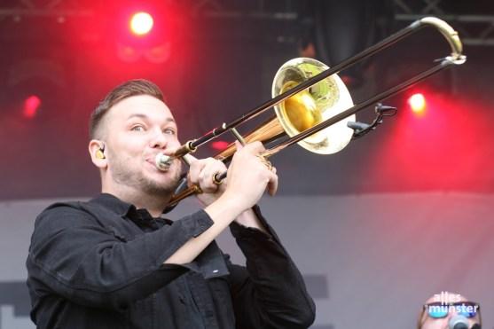 Heiße Action an der goldenen Rein-raus-Trompete. (Foto: Michael Wietholt)