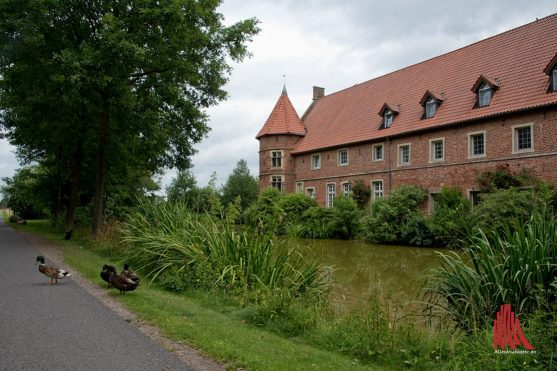 Das erste Highlight der Tour: Haus Vögeding. (Foto: Michael Bührke)