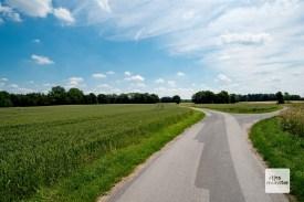 Ruhiges Radeln in schöner Landschaft.