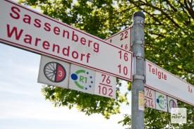 Ab Müssingen geht es einfach auf dem R1 zurück nach Münster.