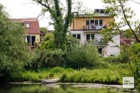 Könnte schlimmer sein: Wohnen am Ufer der Werse. (Foto: Michael Bührke)