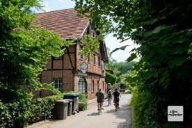 Die Pleistermühle, hier geht's auf die andere Seite der Werse. (Foto: Michael Bührke)