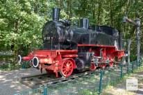 Vor dem Pängelanton Museum in Gremmendorf steht diese Lokomotive. (Foto: Bührke)