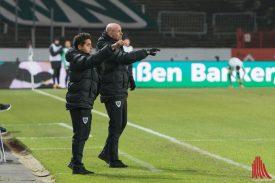 Marco Antwerpen (re.) und Co-Trainer Kurtulus Öztürk verlassen den Verein zum Saisonende. (Foto: Carsten Pöhler)