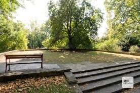 Hier stand bis 1942 ein beeindruckendes Denkmal zum Westfälischen Frieden. Es wurde erst eingeschmolzen und später abgerissen.
